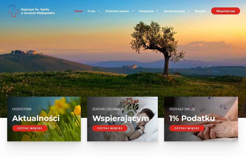 Zmiany na stronie internetowej Hospicjum Św. Kamila