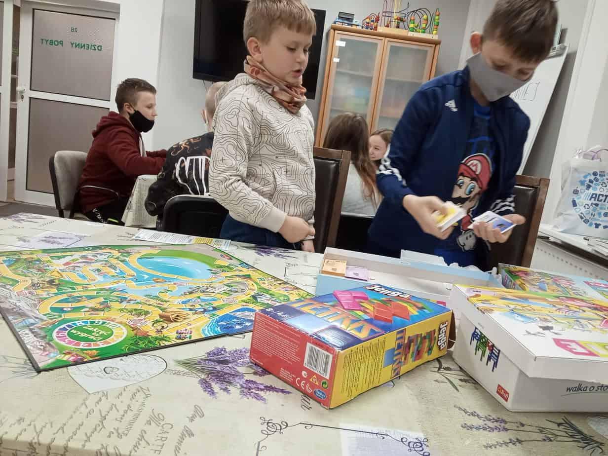 Turniej gier planszowych w Jaskółce